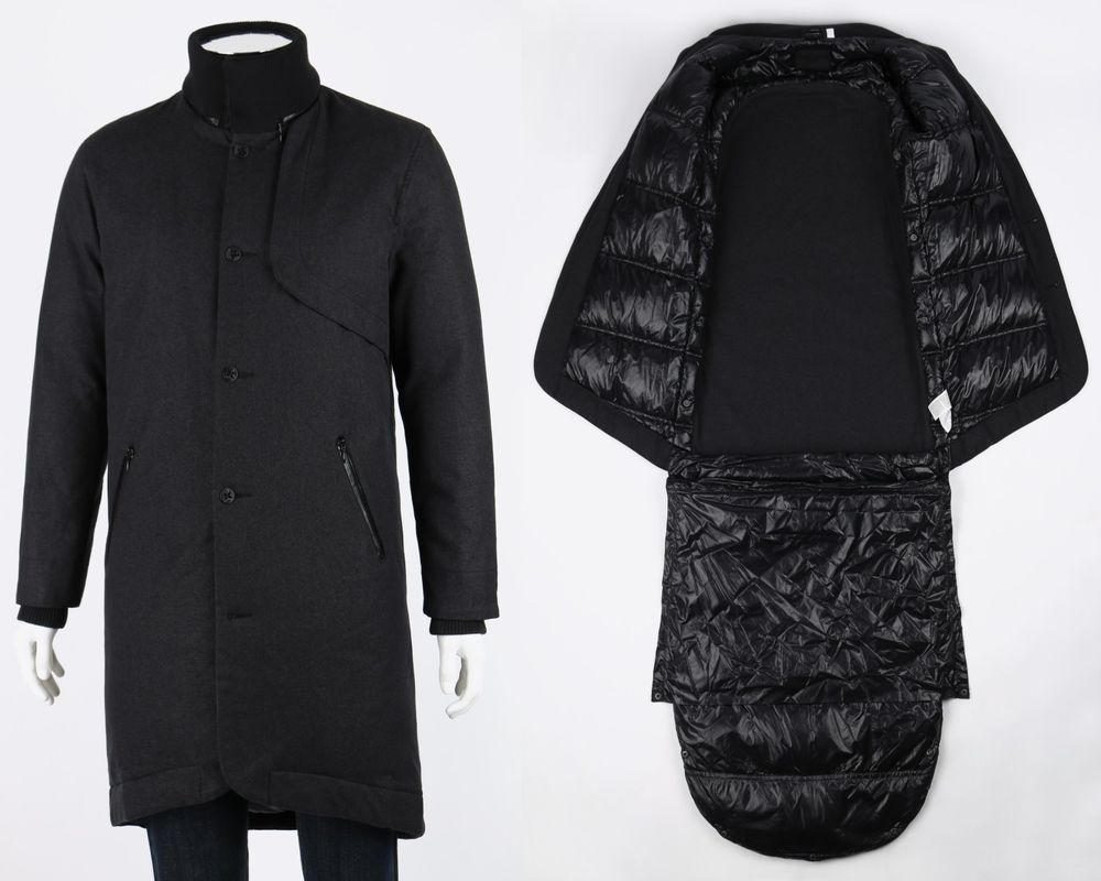 Puma Hussein Chalayan Gray Down Convertible Sleeping Bag Coat Parka Rare Sz Xl Clothes Design Fashion Coat [ 800 x 1000 Pixel ]