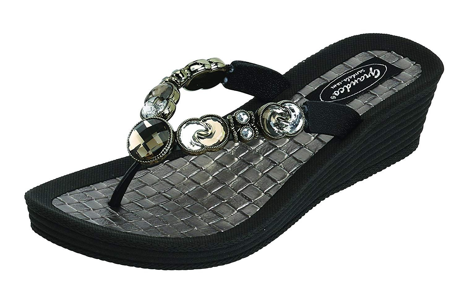 3588c56de35ae Grandco Women s Crescent Wedge Thong Sandal    Very kind of you to have  dropped by