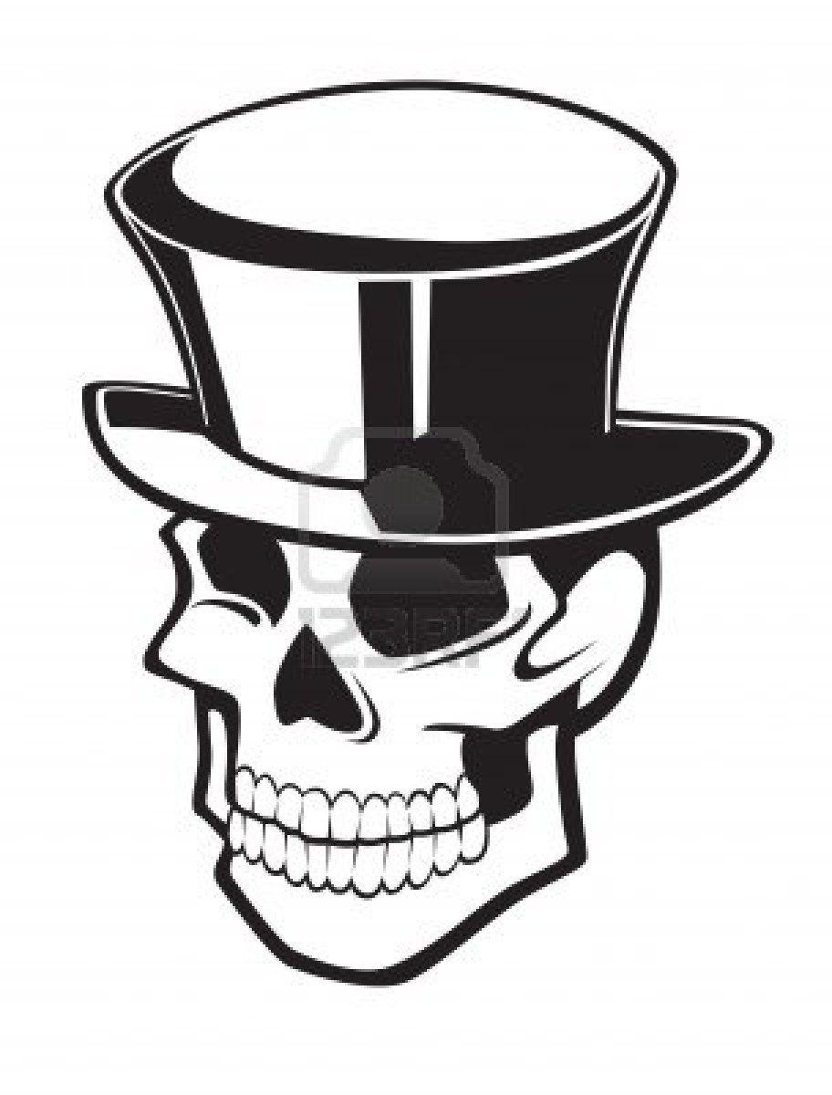 calavera con sombrero de copa  3783714167d
