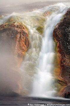 River agujero Fuego, Parque Nacional de Yellowstone, Wyoming