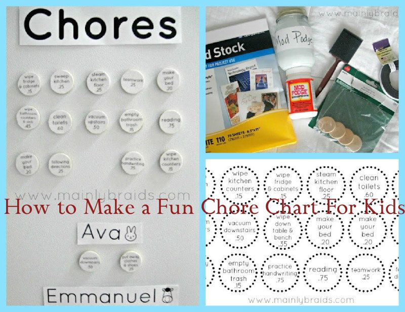 how to make a chore chart fun with the kids pinterest. Black Bedroom Furniture Sets. Home Design Ideas