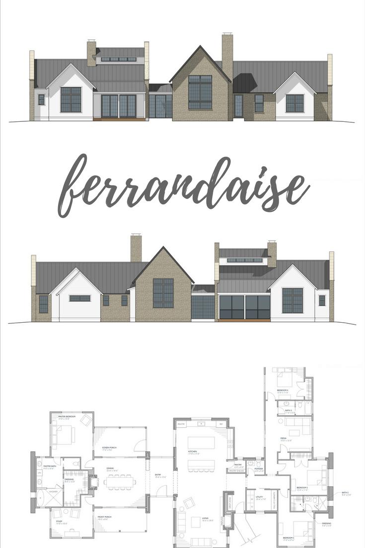 Featured Design The Ferrandaise Modern Farmhouse Floorplan Modern Farmhouse Plans Farmhouse Plans