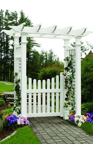 Fences And Gates And Arbor Fairfield Arbor With Cottage Gate Garden Archway Garden Arches Garden Gate Design