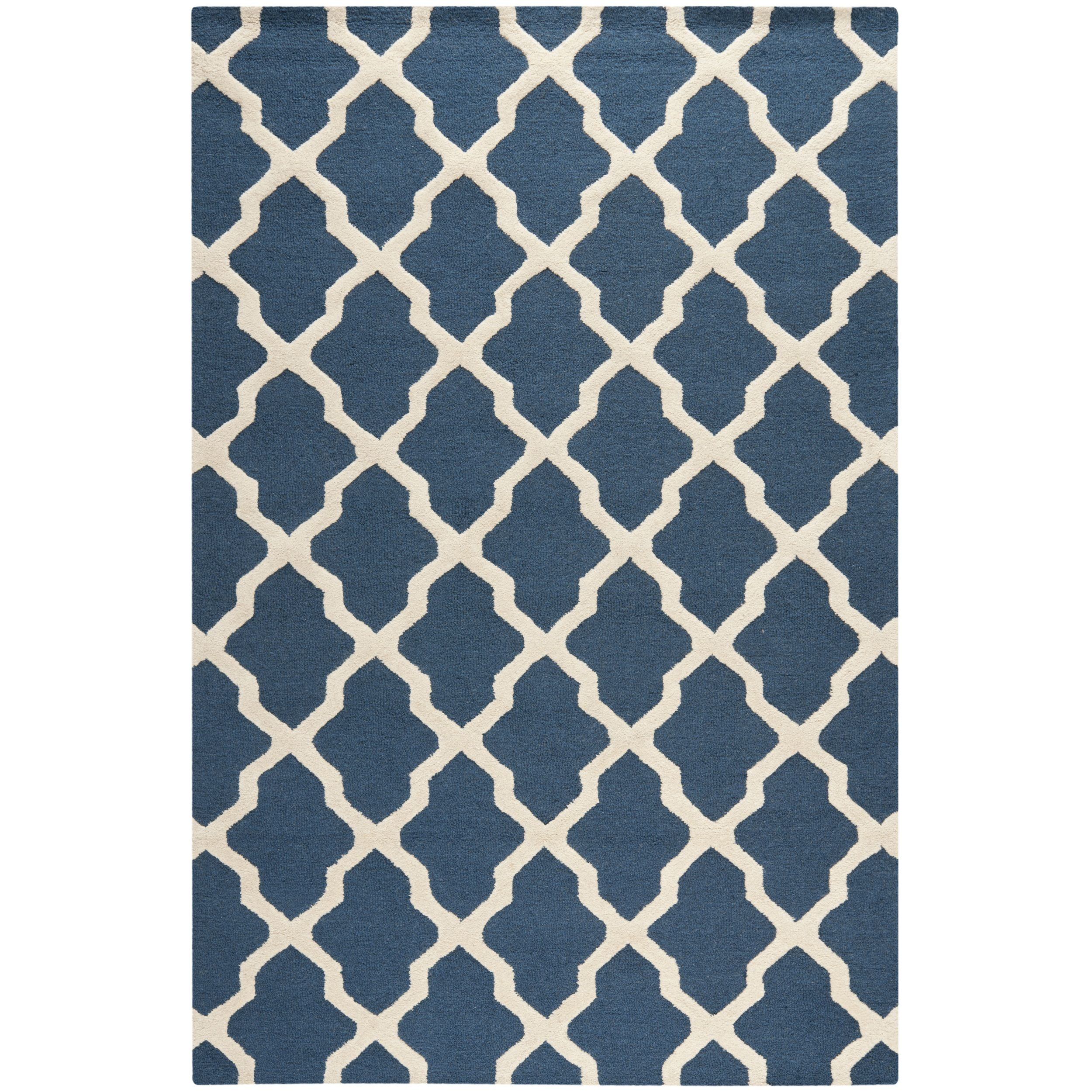 This Patterned Blue Wool Rug Combines Bright Modern Colors With A Traditional Moroccan Pattern The Simple Pattern Is Blue Wool Rugs Rug Texture Navy Blue Rug