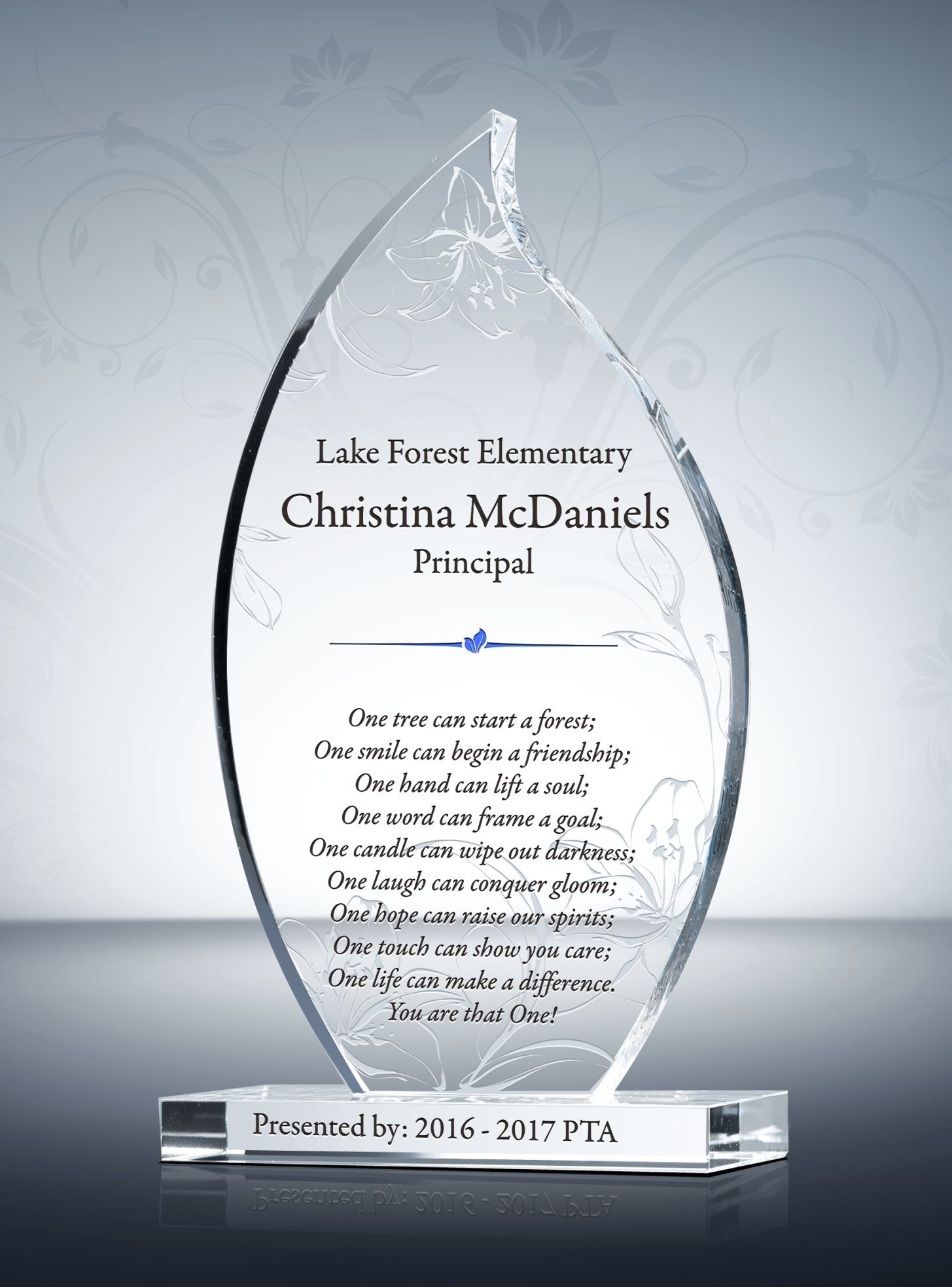 Flame Teacher Appreciation Plaque Teacher Appreciation Principal Appreciation Gifts Employee Recognition Awards