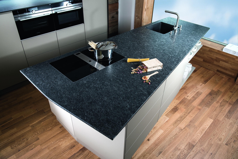 Silver Pearl Dunkel Geheimnisvoll Granit Kuche Wohnung Kuche Moderne Kuche