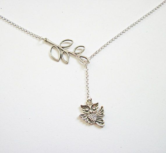 Owl Lariat Necklace by RobertaValle