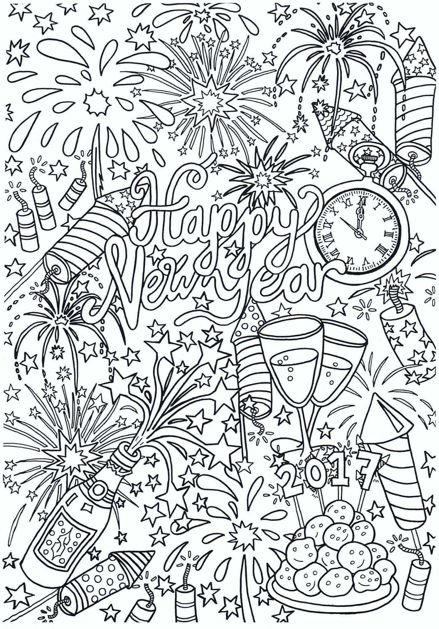 happy new year new year coloring pages new year s