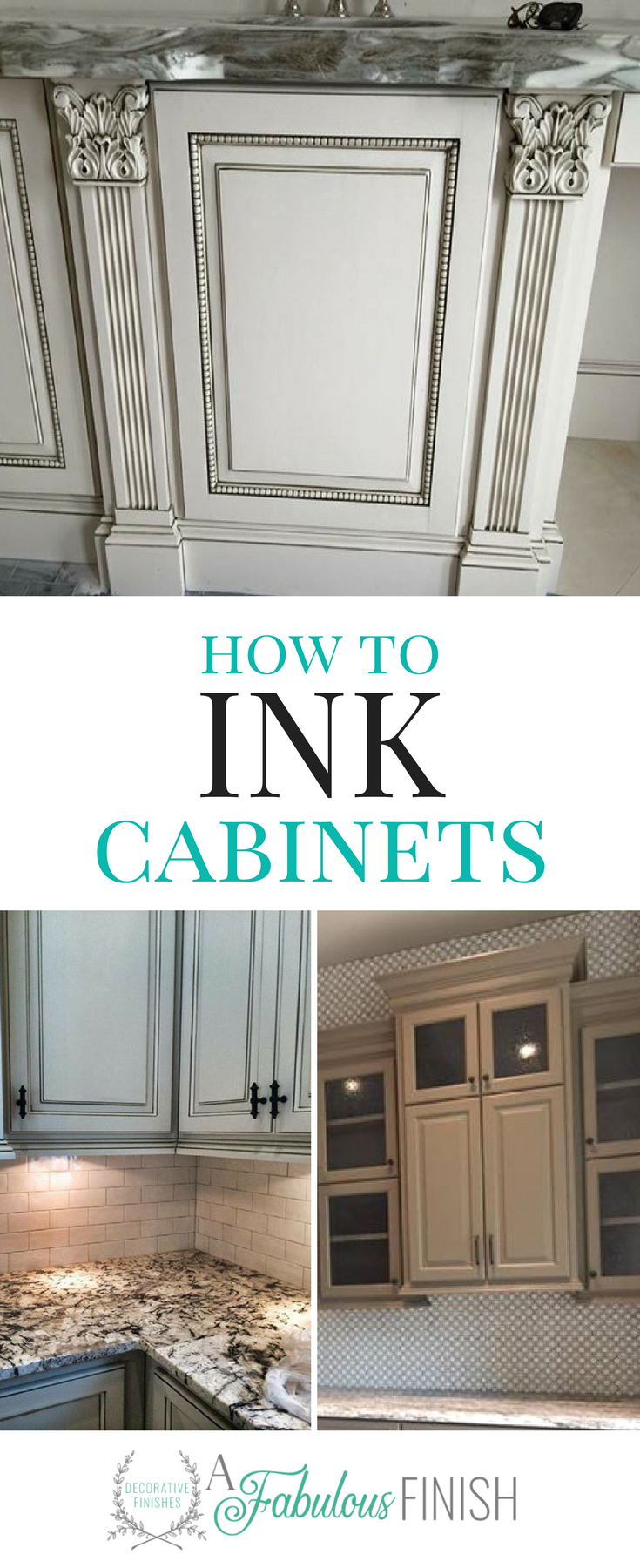 Inking Cabinets Makes The Detailed Areas On Kitchen Cabinets Really Stand Out Learn Furniture Painting Techniques Repainting Furniture Furniture Painting Tips