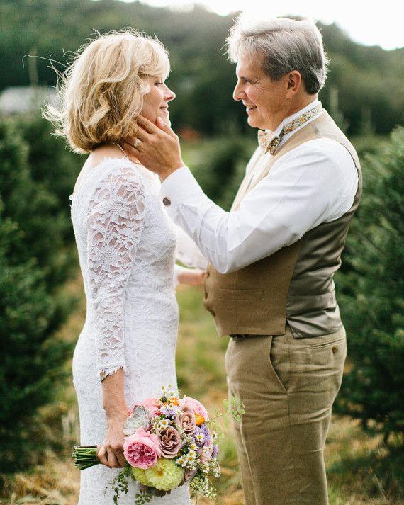 16 Gorgeous Medium Length Wedding Hairstyles Older Couple