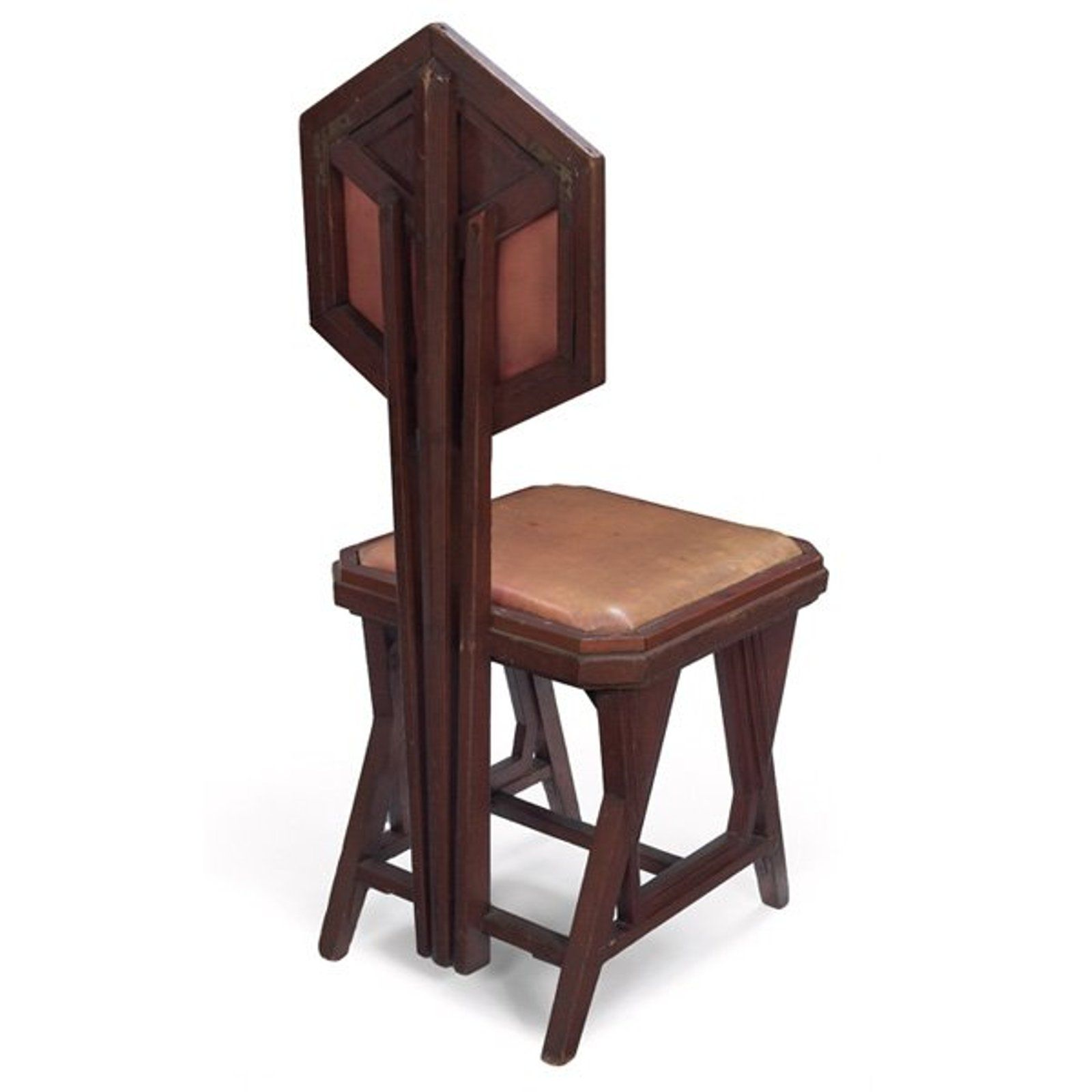 411: Frank Lloyd Wright Chair From The Imperial Hotel, ...