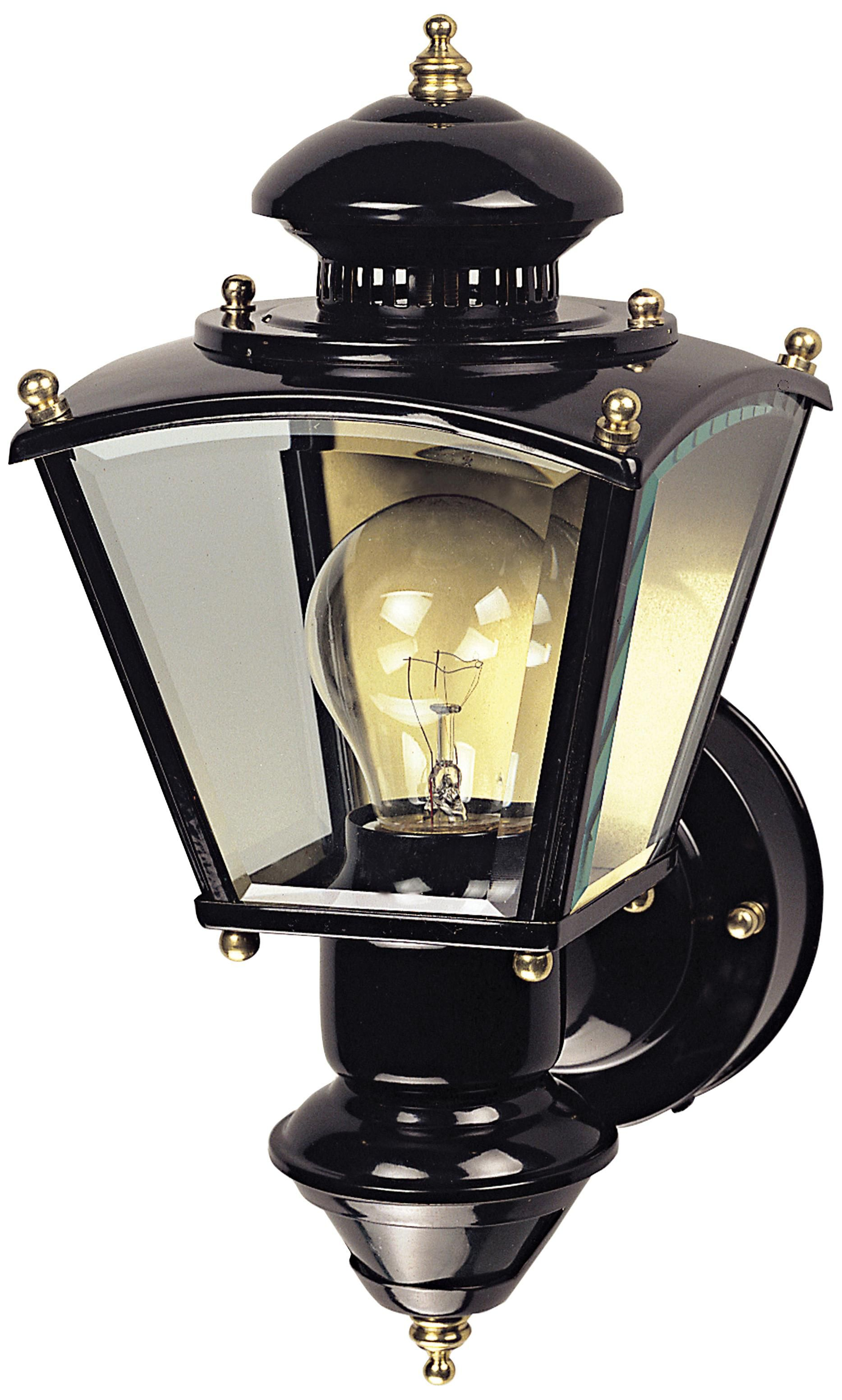 Charleston Coach Black Motion Sensor Outdoor Light H6932