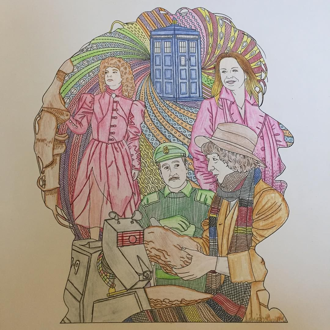 The Fourth Doctor Robot 1974 Finally Finished Another Drawing I Tried Some Different Techniques With This One Shading