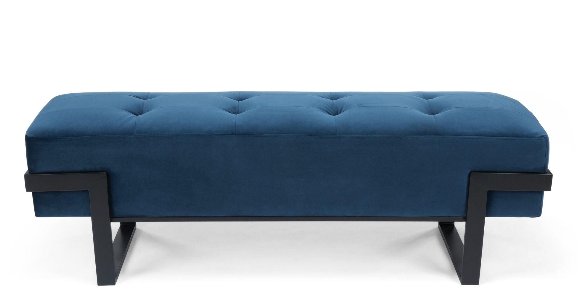 Vertigo Banc Design Pour Entrée En Bleu Velours 349 Seatting
