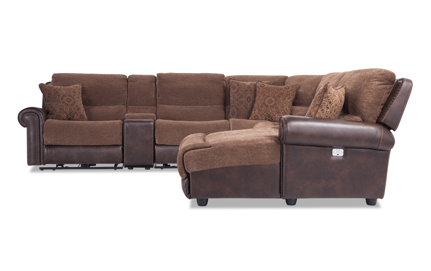 Prime Dallas 6 Piece Power Reclining Left Arm Facing Sectional Uwap Interior Chair Design Uwaporg