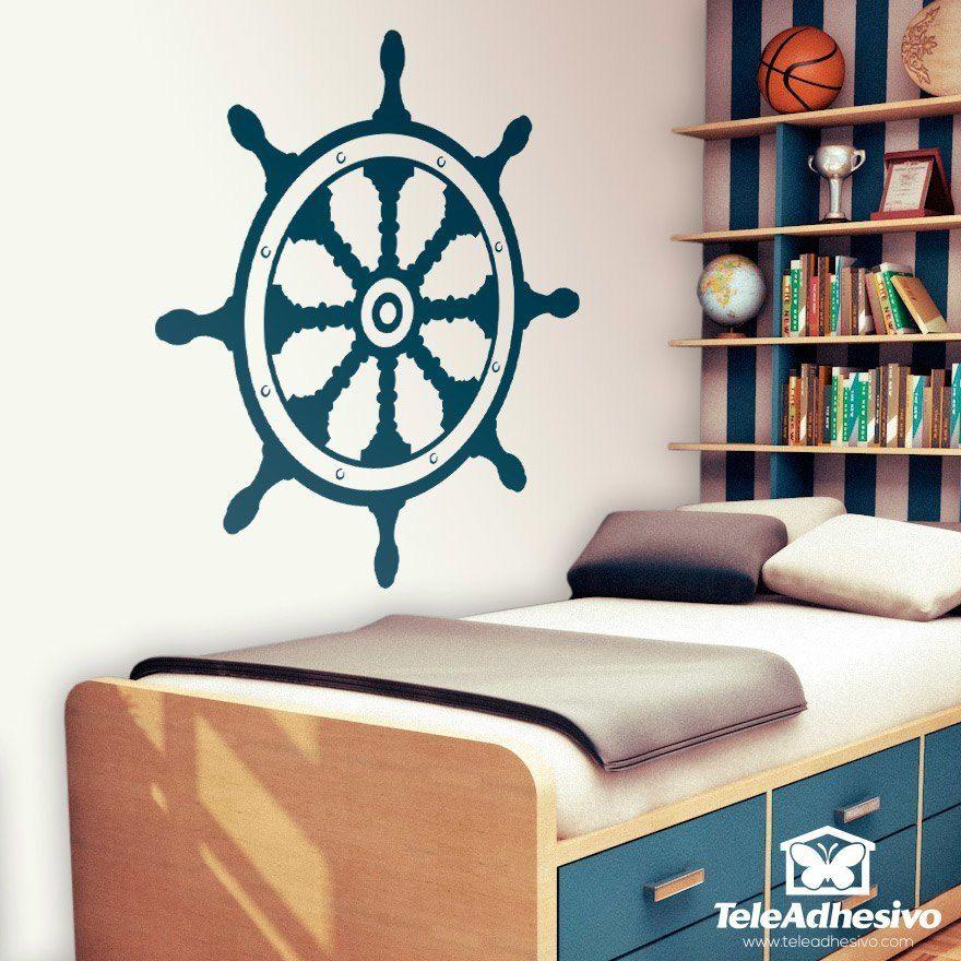 Vinilos Decorativos: Timón #vinilo #pared #piratas #timón #barcos #bucanero #grumete #habitacion #decoracion #infantil #TeleAdhesivo