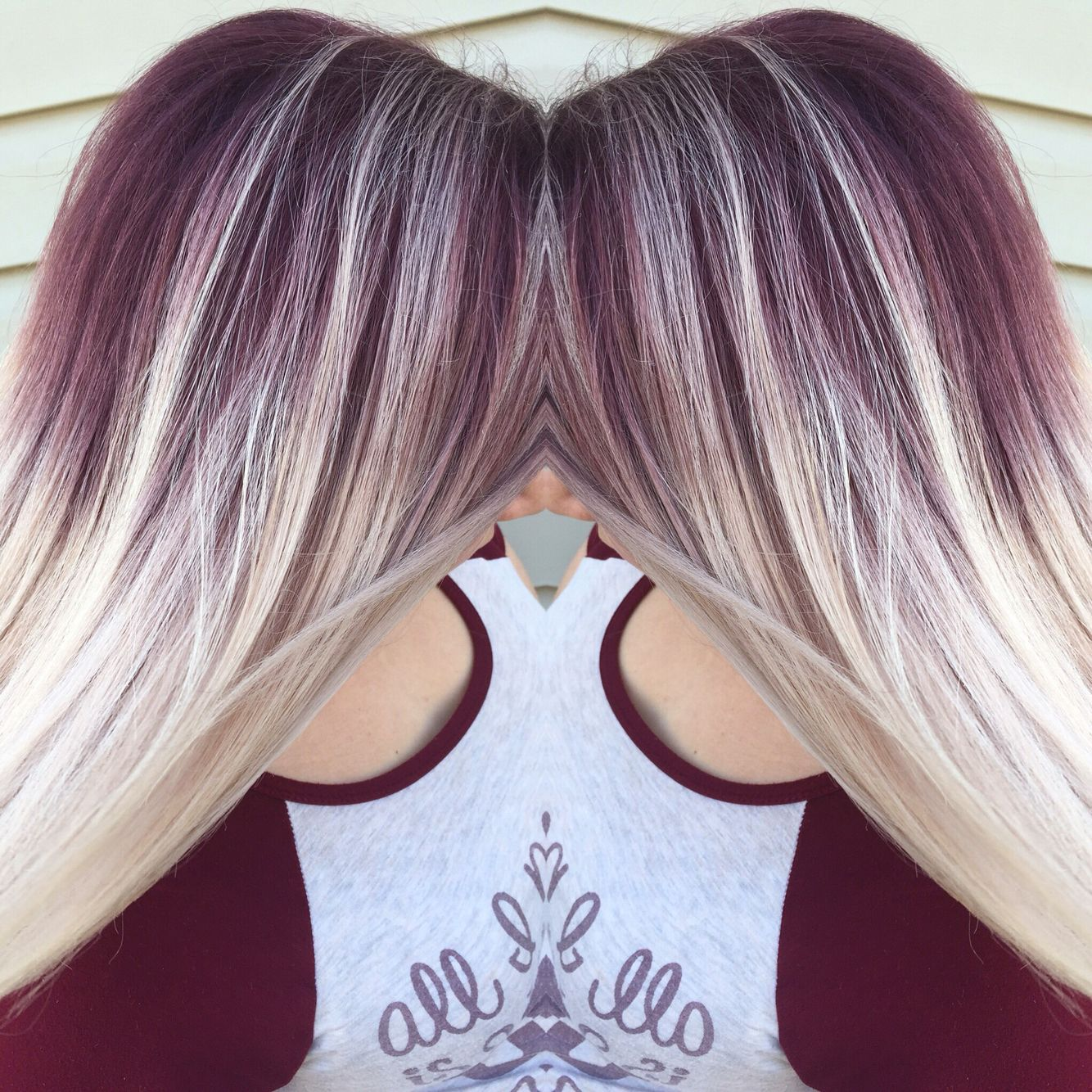Purple Shadow Roots Blonde Hair With Roots Hair Styles Roots Hair