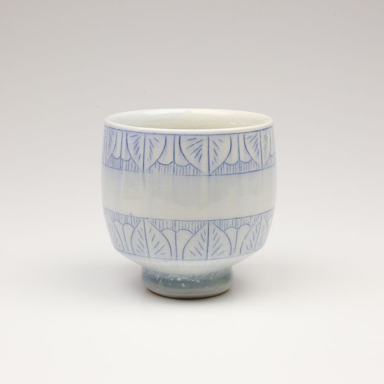 Steven Young Lee - Cup Blue - Archie Bray Foundation Gallery