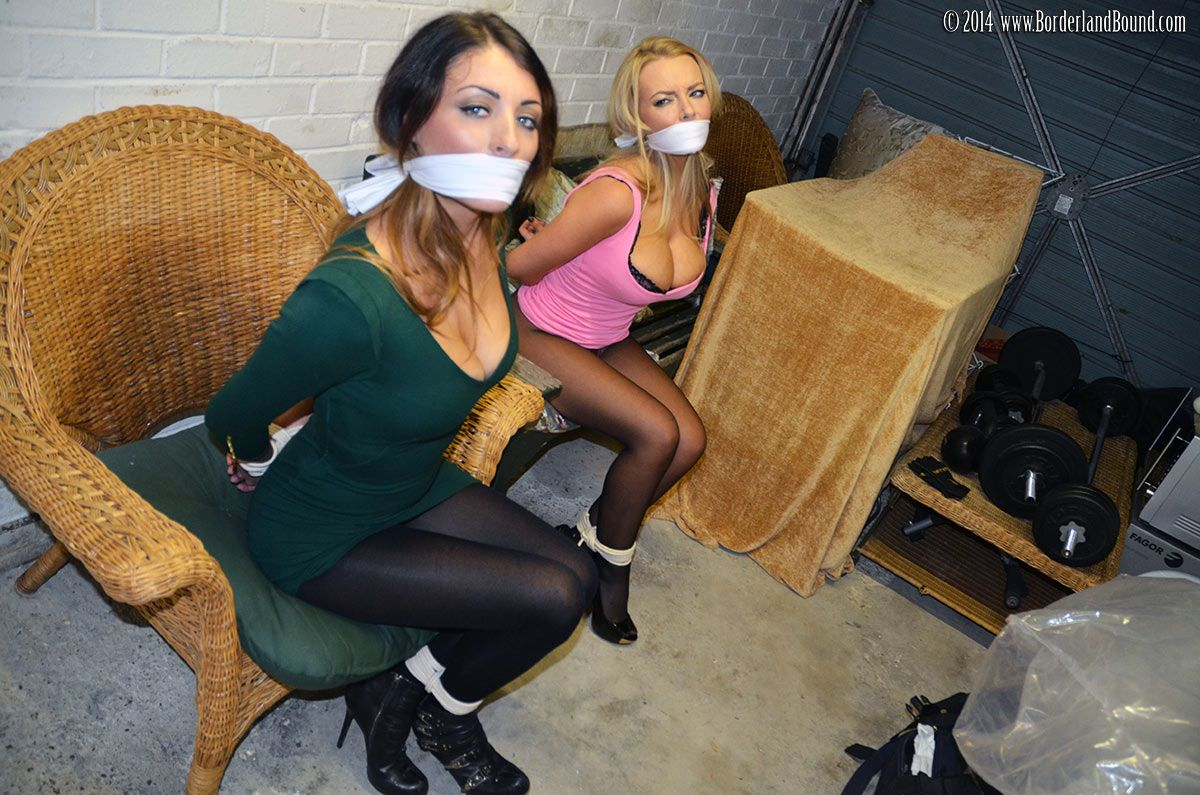 Two Sexy Girls Tied With Hot Dress  Gagged And Glamorous -9541