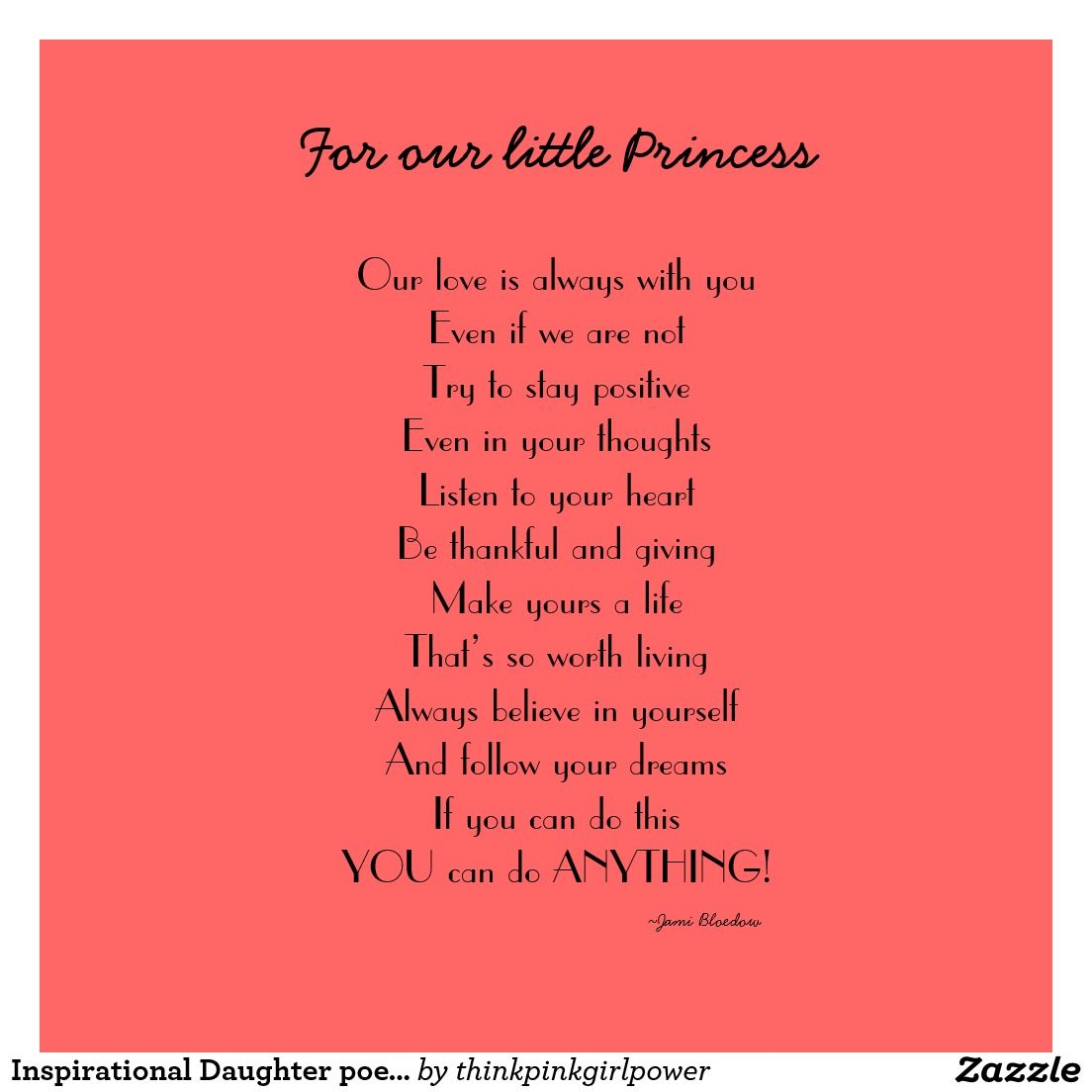 birthday poem for daughter from parents inspirational