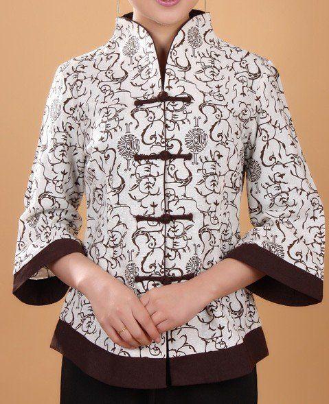 Style Beige Spring Chinese Women Linen Jacket Coat Flowers S M L XL XXL XXXL 4XL 5XL 2218-1