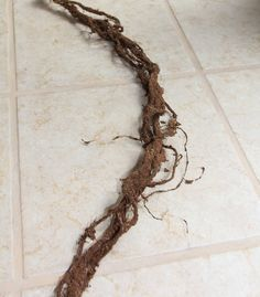 Some of the best fake vines I have seen yet. Unraveled rope, glue and moss. Voila!