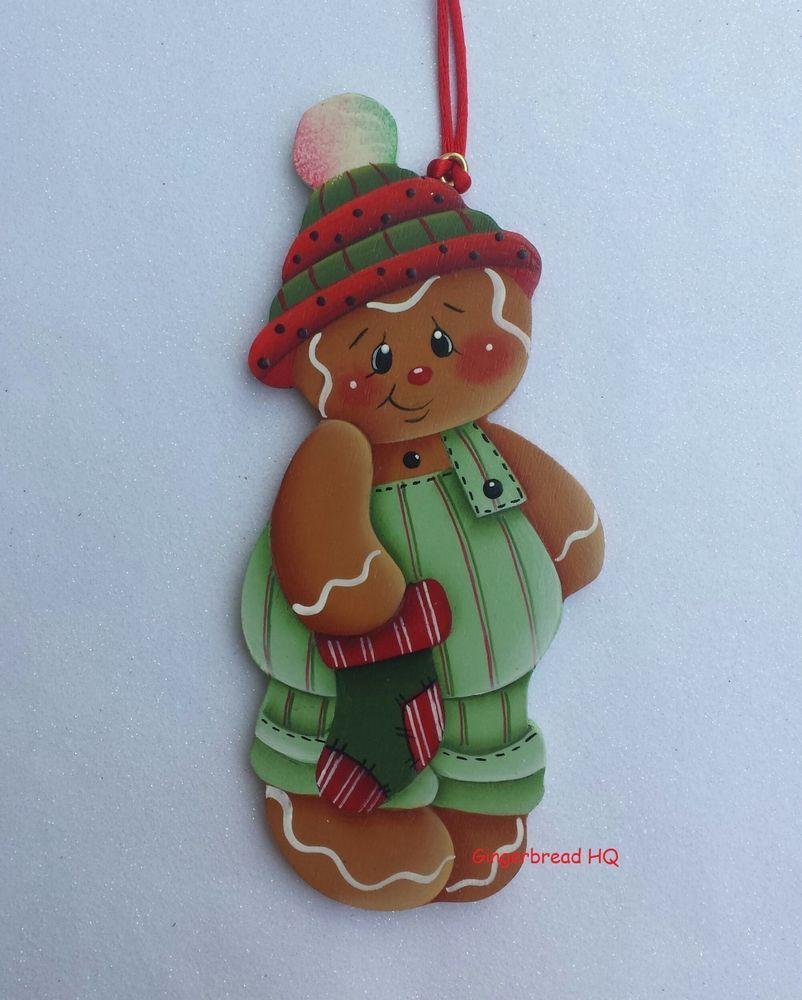 HP gingerbread boy Wooden christmas ornament | Pan de jengibre ...