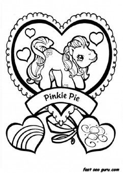 Print Out My Little Pony Pinkie Pie Coloring Pages