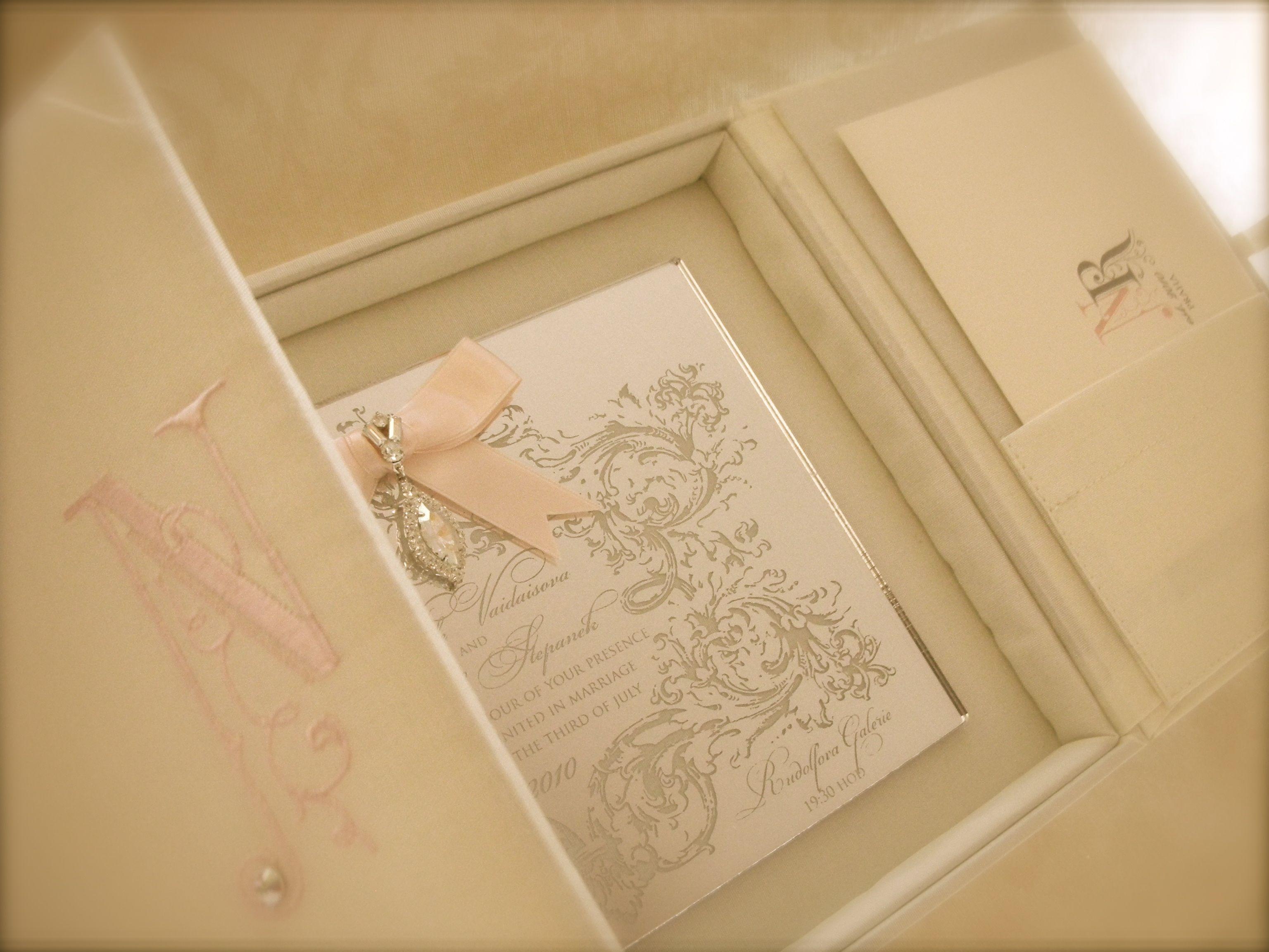 Praha Silk Box Wedding Invitation by