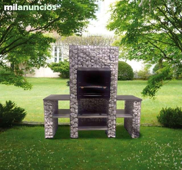 gaviones decorativos para el jard n asador y parrilla Gavion-BARBACOA.Rellenable con piedra natural decorativa.Realizado en malla  electrosoldada Medidas
