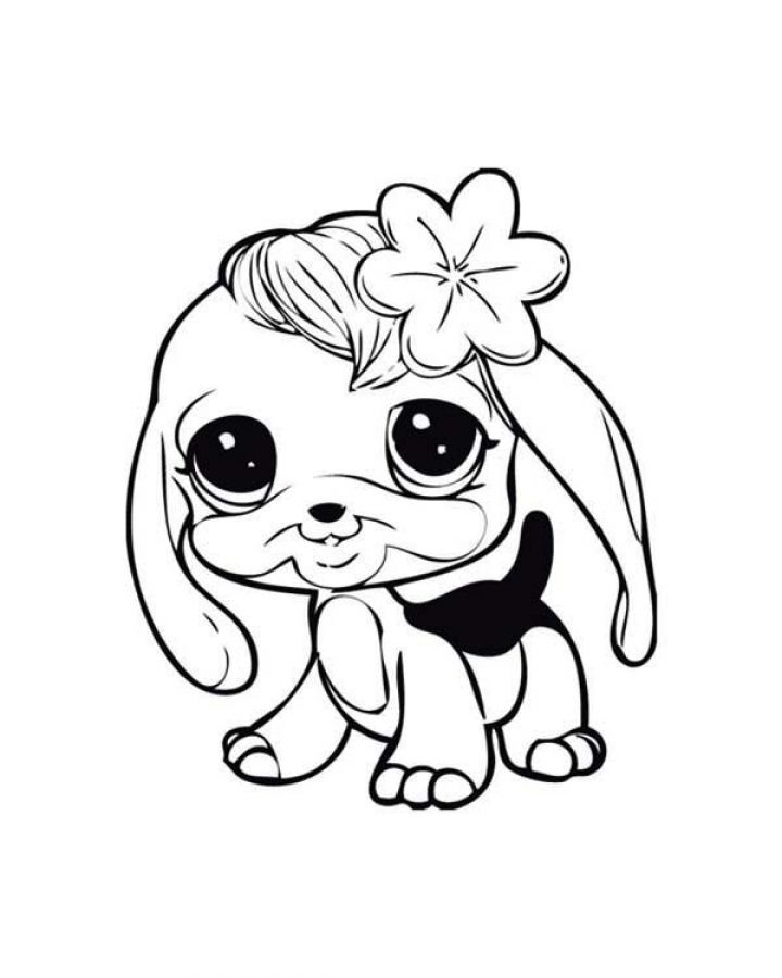 baby dog learn to walk in littlest pet shop coloring pages