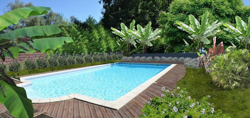 faire un jardin autour dune piscine planter les abords dune piscine