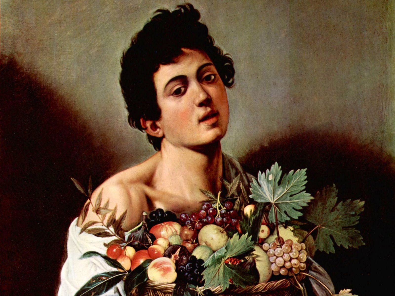 CARAVAGGIO Boy with a Basket of Fruit c. 1593 Oil on canvas, 70 x ...