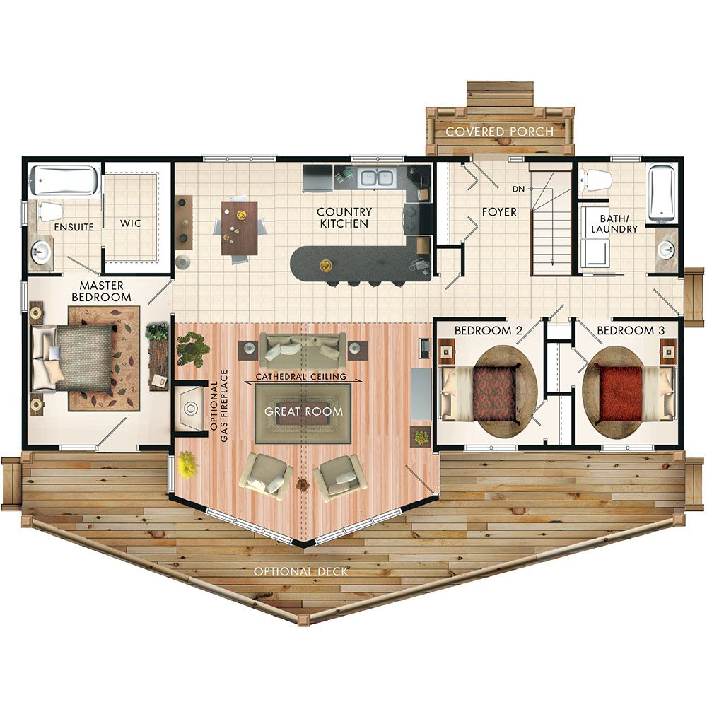 Banff Ii Floor Plan 1428 Sq Ft 3 Bedroom 2 Bath