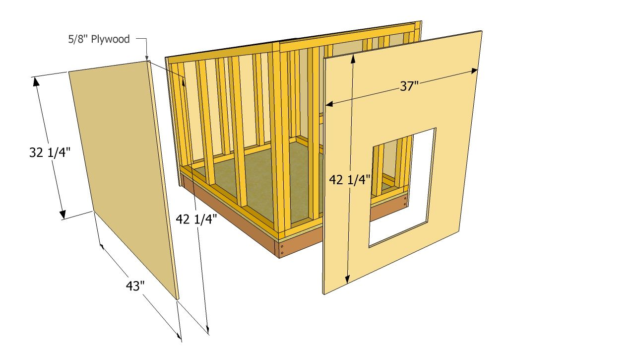 step by step woodworking project about large dog house plans we show you detailed instructions to build a diy large outdoor doghouse using simple