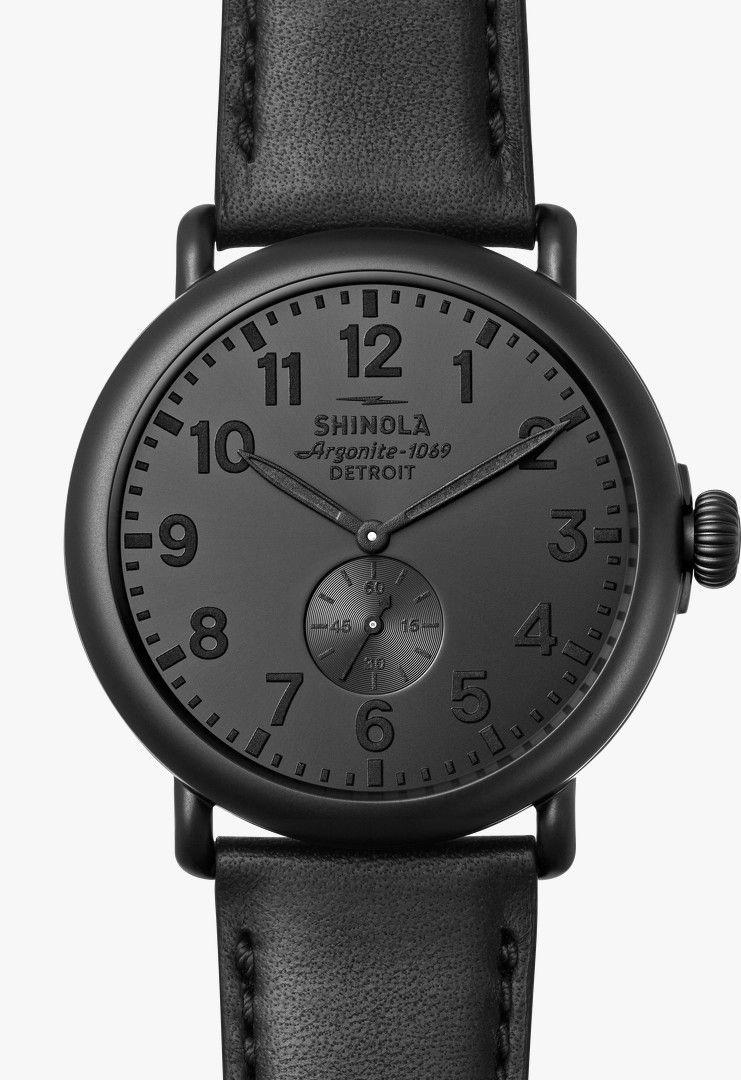 82985573395 Shinola Runwell All-Black Collection