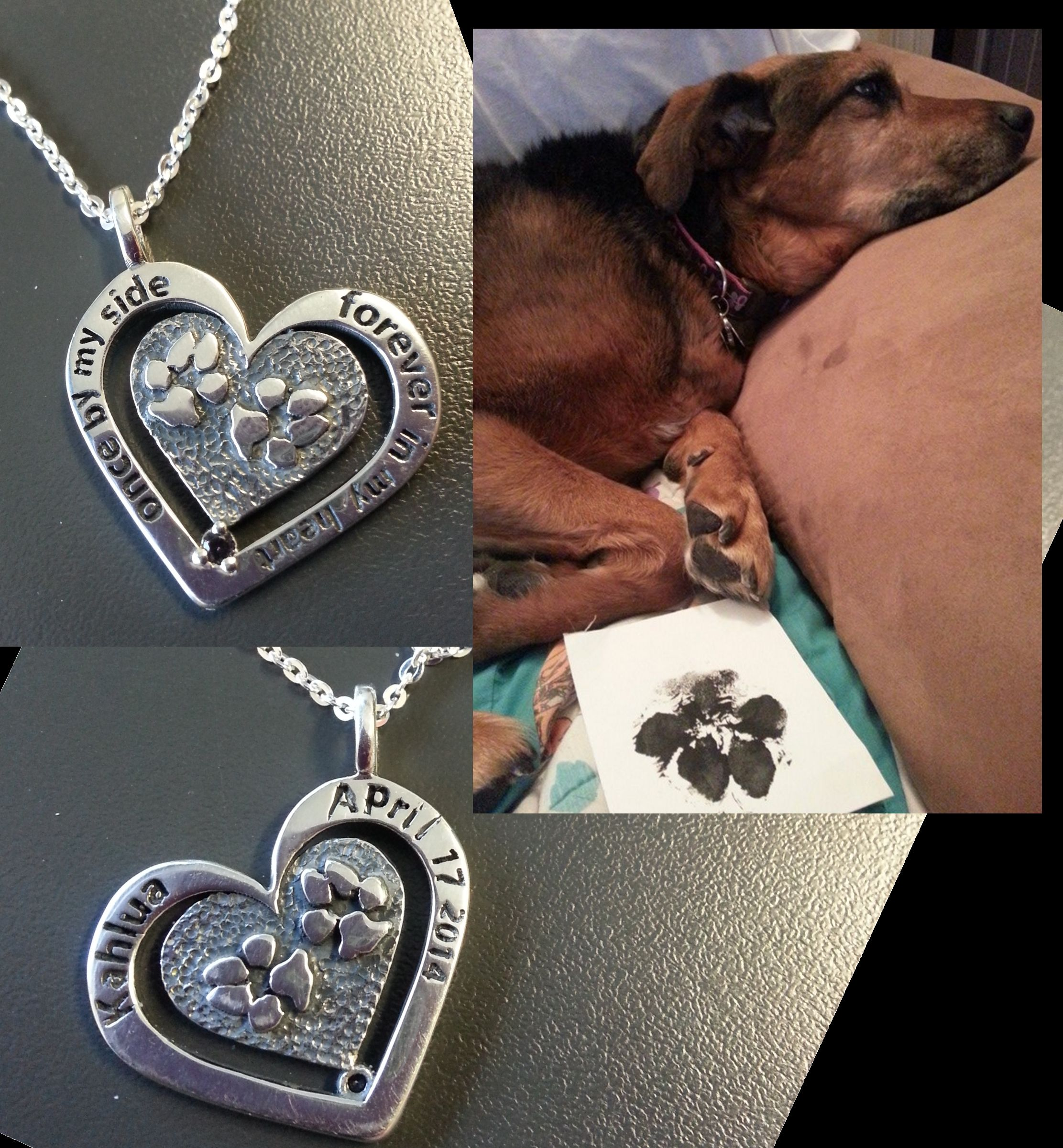 I can't thank What On Earth Jewelers enough for the beautiful rendition of my vision. Before passing, Kahlua left me with a paw print (and many more on my heart) and they took that print and made it into the most beautiful necklace. THANK YOU! Just in time for my birthday.