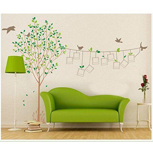 sticker mural auto collant cadre oiseaux arbre deco maison cuisine maison. Black Bedroom Furniture Sets. Home Design Ideas