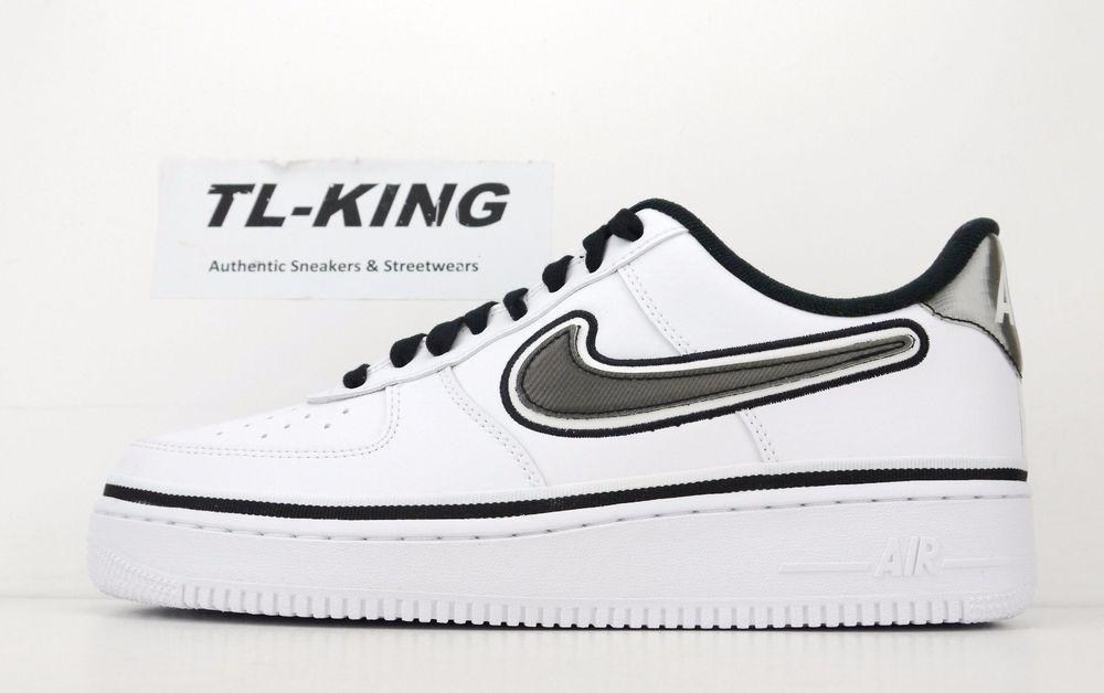 Nike Air Force 1 '07 LV8 Sport NBA Pack White Black AJ7748