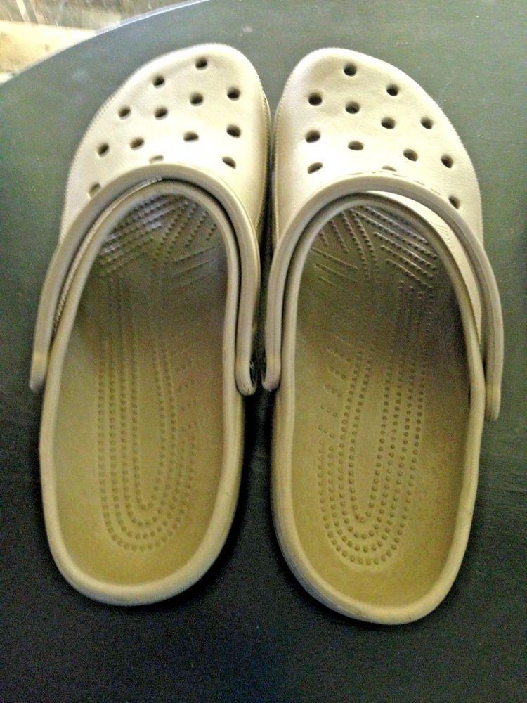 6035266f89a7 SOLD Croc s Men s Size 16-17 XXXXL Tan New Without Tag  Crocs  slipons