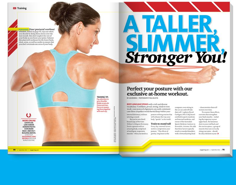 A Tall, Slimmer, Stronger You! from Oxygen's September 2011 issue! Click through for your sneak peek!