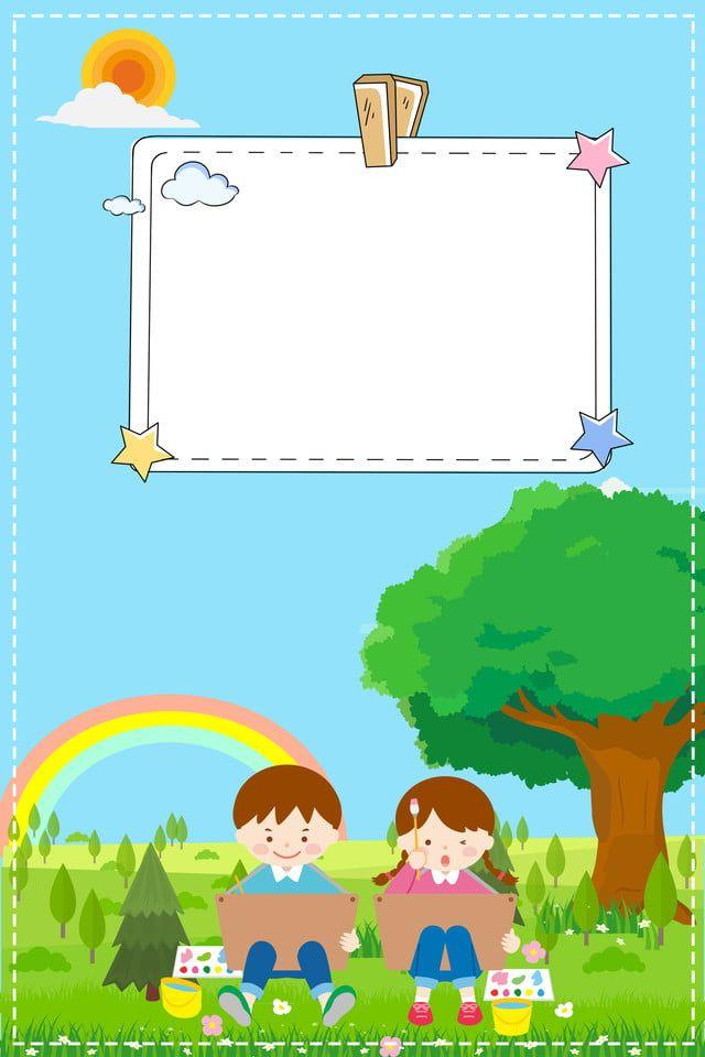 ملصق القبول رياض الأطفال الأخضر الكرتون En 2020 Imagenes Animadas De Ninos Carteles De Lectura Fondos Para Ninos