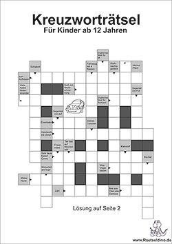 Kreutzworträtsel für Schüler ab der 5 Klasse | Rätsel | Pinterest ...
