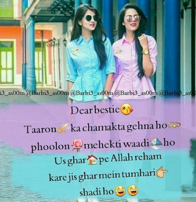 Pin By Kajal Chandel On Ldkiyo Ki Bate Besties Quotes Friends