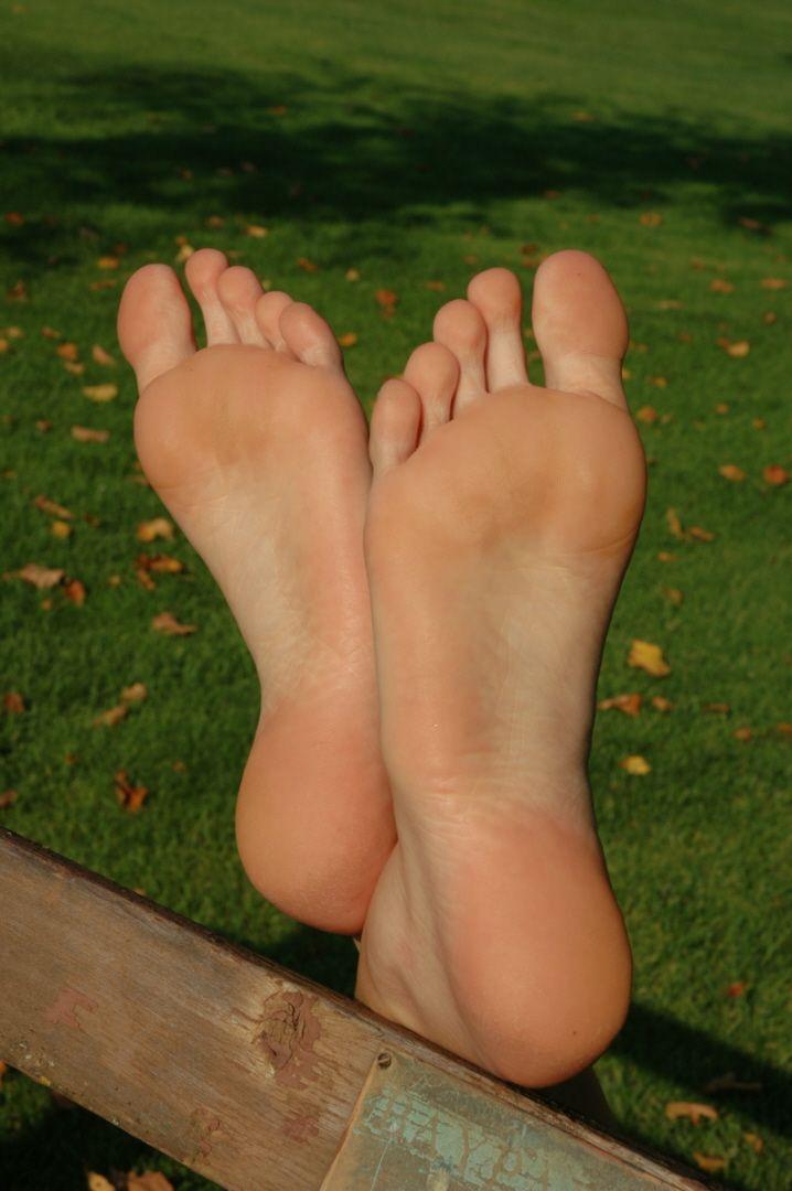 Naked teen in socks
