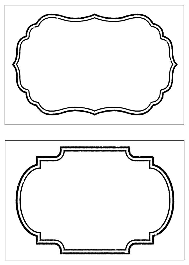 decorative label templates
