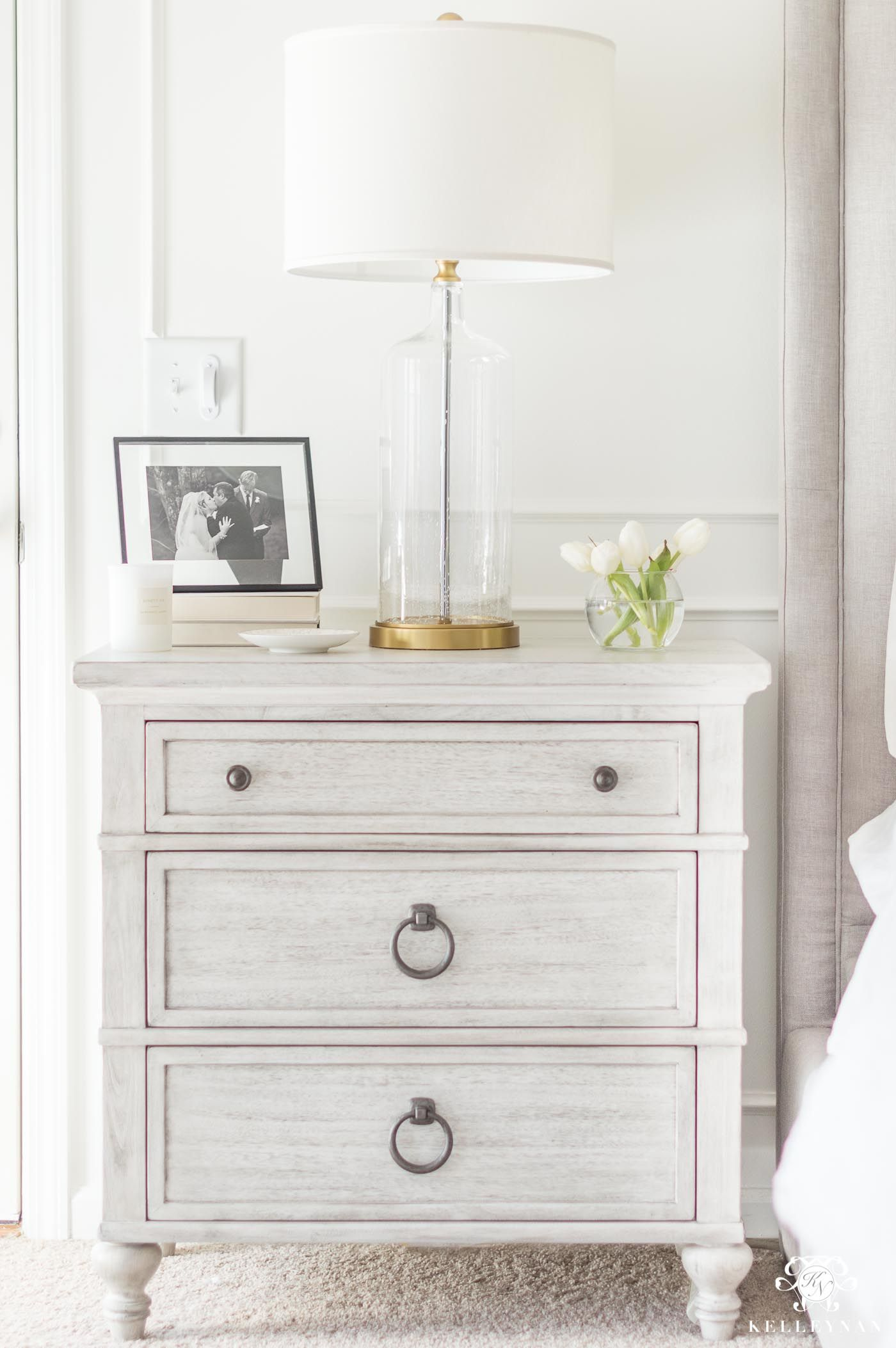 How To Mix And Match Bedroom Furniture Finishes Kelley Nan Bedroom Furniture Makeover White Bedroom Furniture White Washed Nightstand