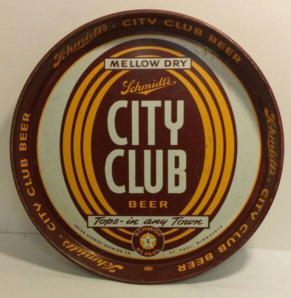 Schmidt's City Club Beer Tray - Very Good Condition by AwesomeCEF on Etsy