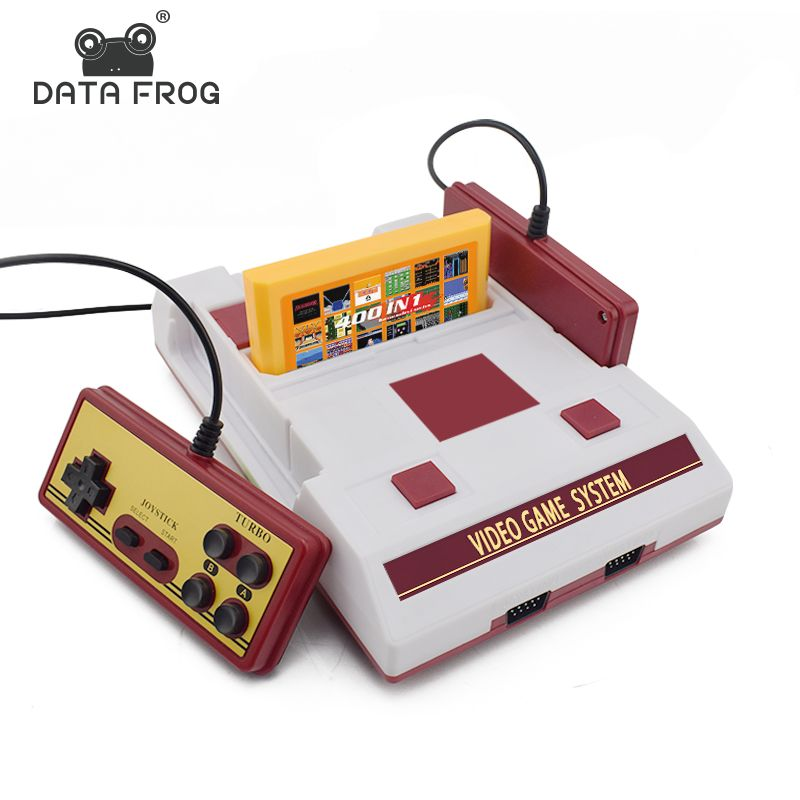 Rana Retro Doble Controlador De Datos De 8 Bits Tv Consola De
