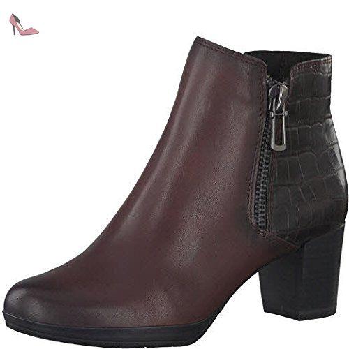 Eu 25388 Bordeaux 37 Chaussures Bottine Femmes Marco 39 2 Tozzi xcw710